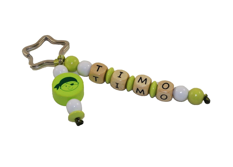 My Schnullerbox Schlüsselanhänger mit Namen; Motiv Pirat