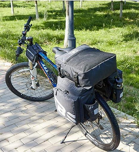 ZHAOSHOP Alforja Bicicleta, 50l Mochila Bicicleta MontañA 3 Compartimentos Alforjas para Bicicletas Alforjas para Portaequipajes De Bicicleta para Bicicleta De MontañA: Amazon.es: Deportes y aire libre
