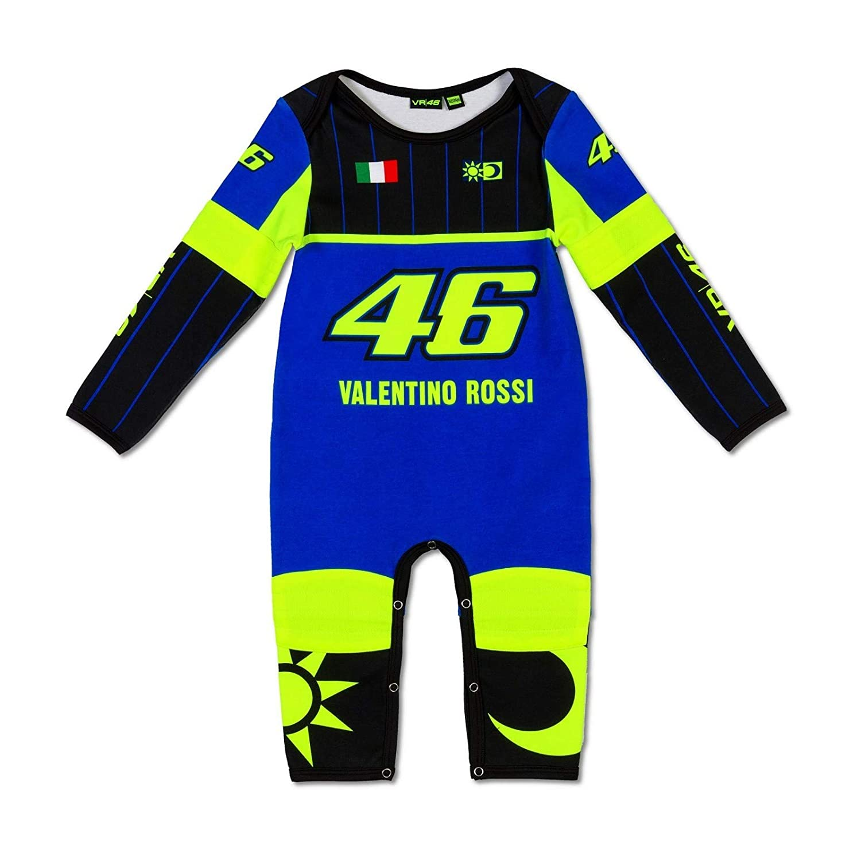 Vr46 Valentino Rossi Baby Strampler Replica Schlafanzug Blue