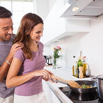Klarstein Virtuosa cocina de inducción empotrable (7.000 W de potencia repartidas entre 4 placas de induccións regulables en 9 niveles, temporizador, ...