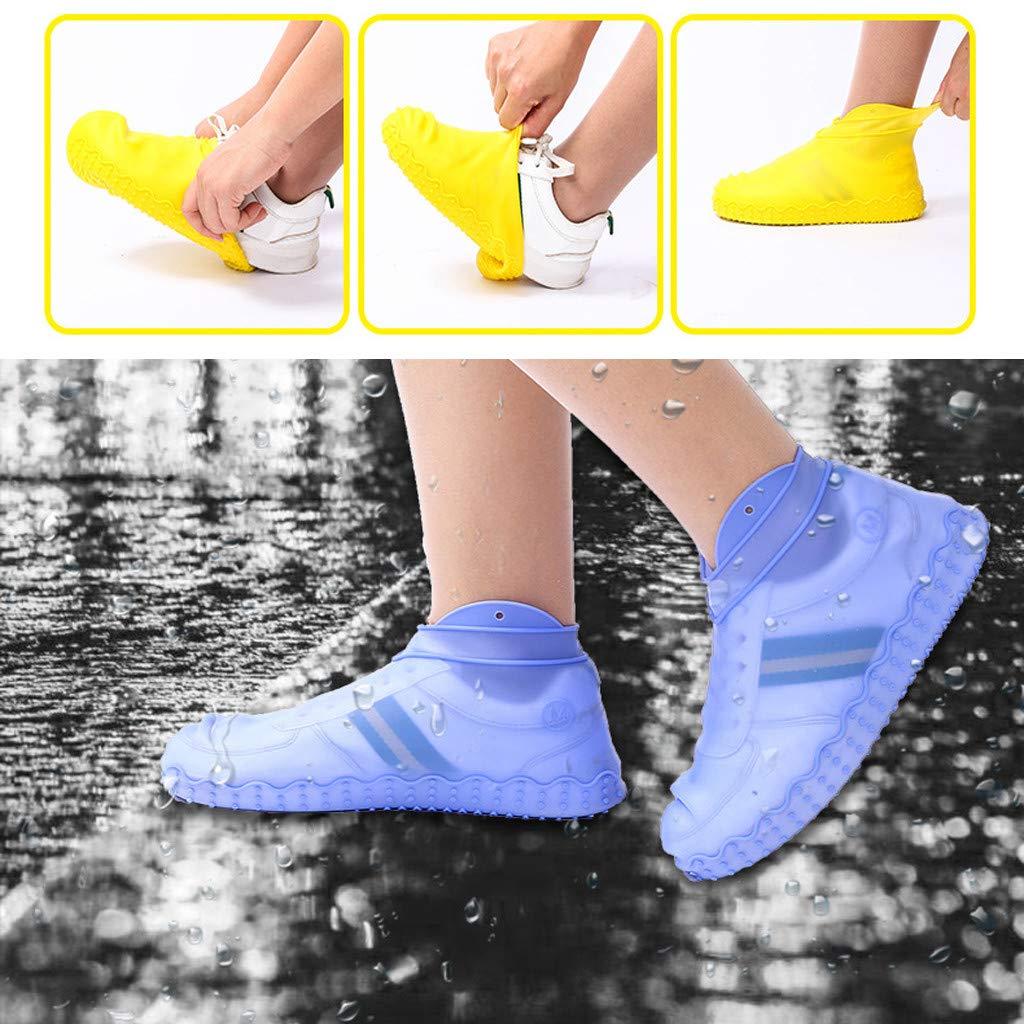 TwoCC Couvre-Chaussures Imperm/éables Chaussettes Imperm/éables en Pluie de Silicone de Bottes Imperm/éables de Pluie de Costume Imperm/éable /à La Pluie de Chaussettes Transparentes,Protecteurs