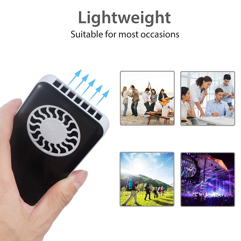 mit USB-Ladekabel LiNKFOR Taschenventilator Handventilator wiederaufladbar