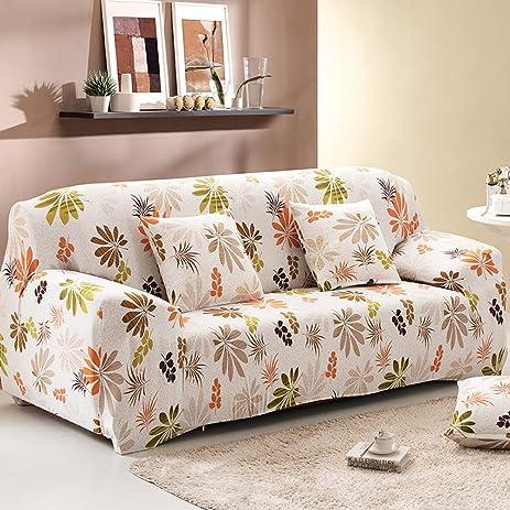 Amazoncom Yazi Rural Floral Washable Elastic Sofa Cover Three