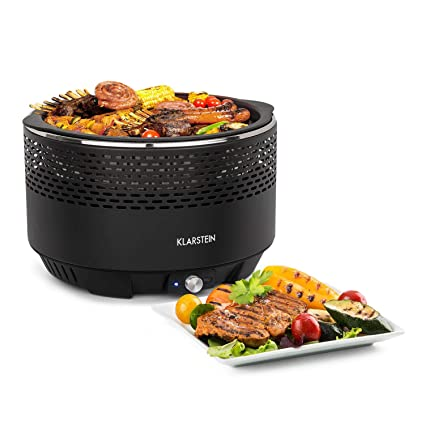 Klarstein Micro-Q 3131 Barbacoa de carbón Vegetal • Portátil • para Camping • Redonda