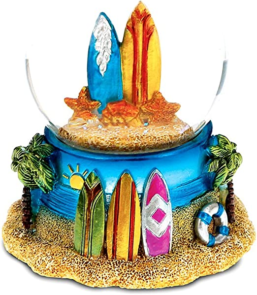 Excellent Amazon Com Cota Global Surfboard Snow Globe Table Top Sport Personalised Birthday Cards Petedlily Jamesorg