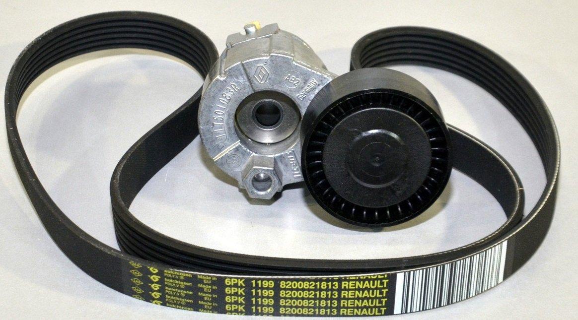 Renault Kit Correa Poly V Original Motores 1.4 16v, 1.6 16v, 1.5 DCi: Amazon.es: Coche y moto