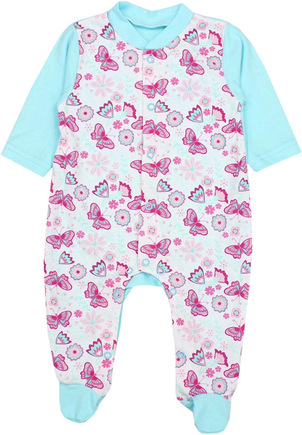 TupTam Baby Girls Sleepsuits with Feet Pack of 3