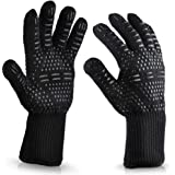 500 Centigrade Extreme Heat Resistant BBQ Gloves Oven Pot Holders Glove for Grilling Cooking Baking