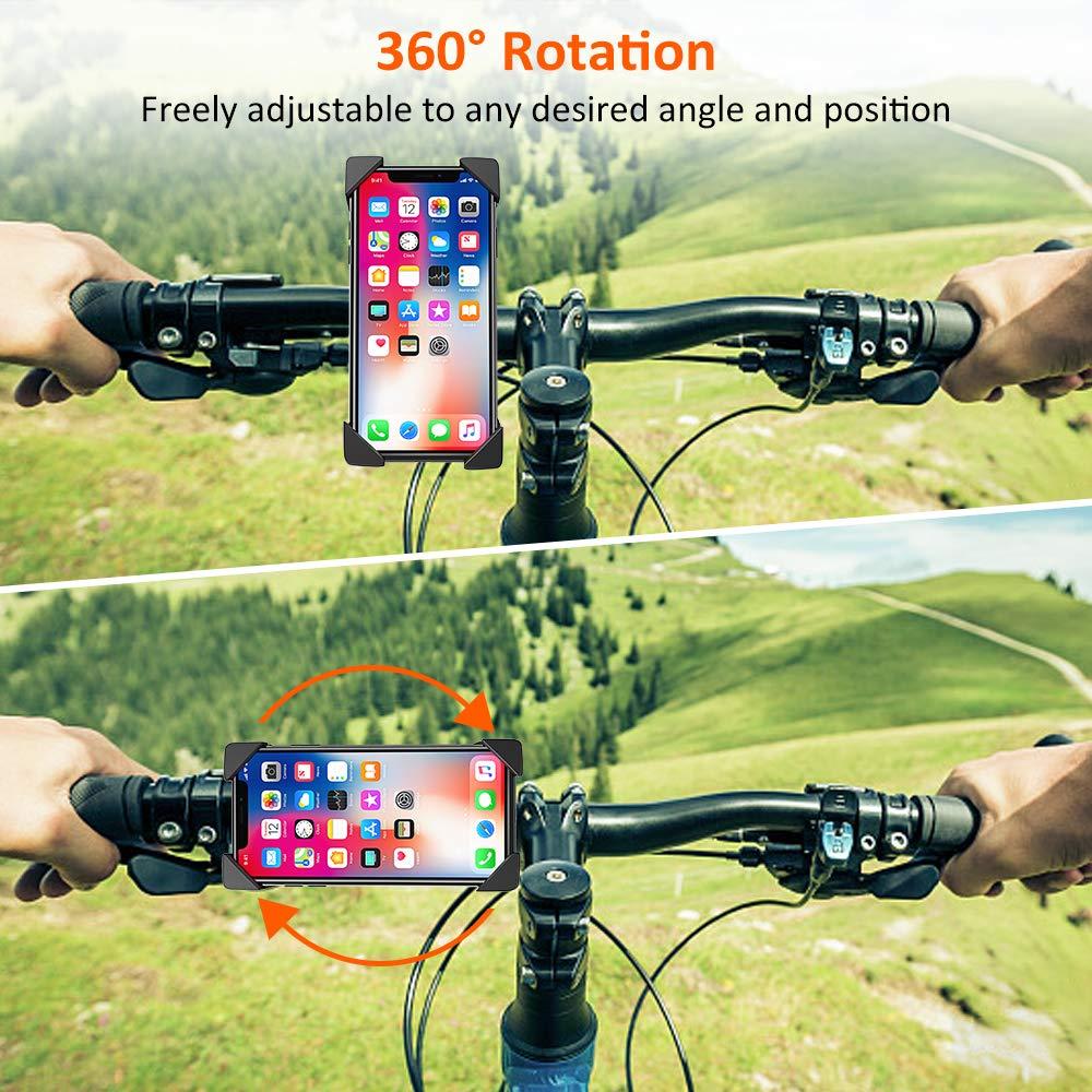 Matone Bike Phone Mount Samsung Galaxy S10 Plus//S10e//S10//S9 Plus//Note 9 360/° Adjustable Universal Cradle Clamp for iPhone XR//XS Max//X//8 Plus Anti-Shake Motorcycle Phone Mount Bike Phone Holder