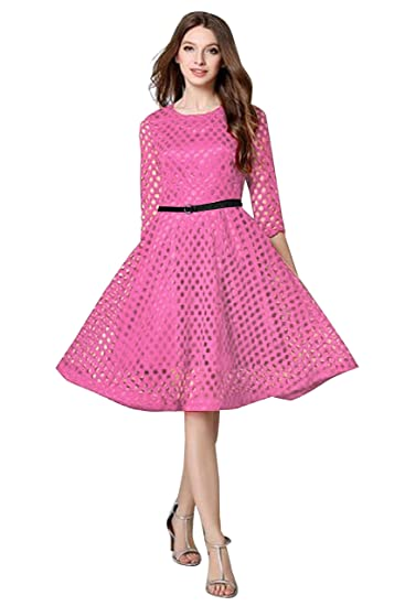 95838a82b8 Great Indian Sale Dresses for women western wear Pink color Lace fabric for  party wear buy