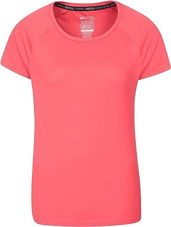 Mountain Warehouse Camiseta Endurance para Mujer - Top de Verano IsoCool para Mujer, Camiseta con protección Solar UV UPF30+ - para Correr, Viajar e IR al Gimnasio: Amazon.es: Ropa y accesorios