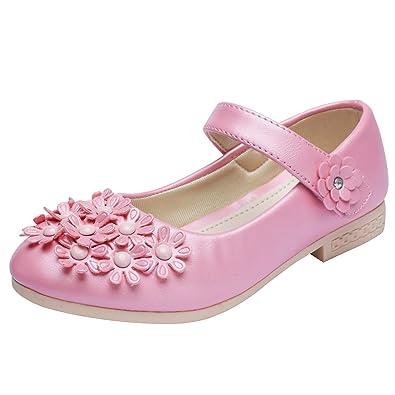 195296ad4a04d  snofiy  フォーマルシューズ 女の子 花モチーフ ドレスシューズ キッズ ガールズ 子供靴 フラット シンプル