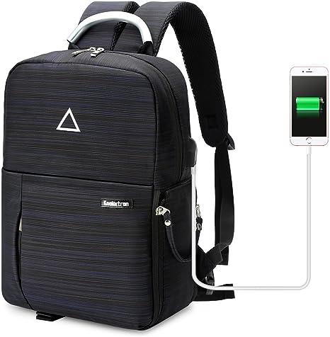 Koolertron USB puerto de carga de la cámara impermeable mochila ...