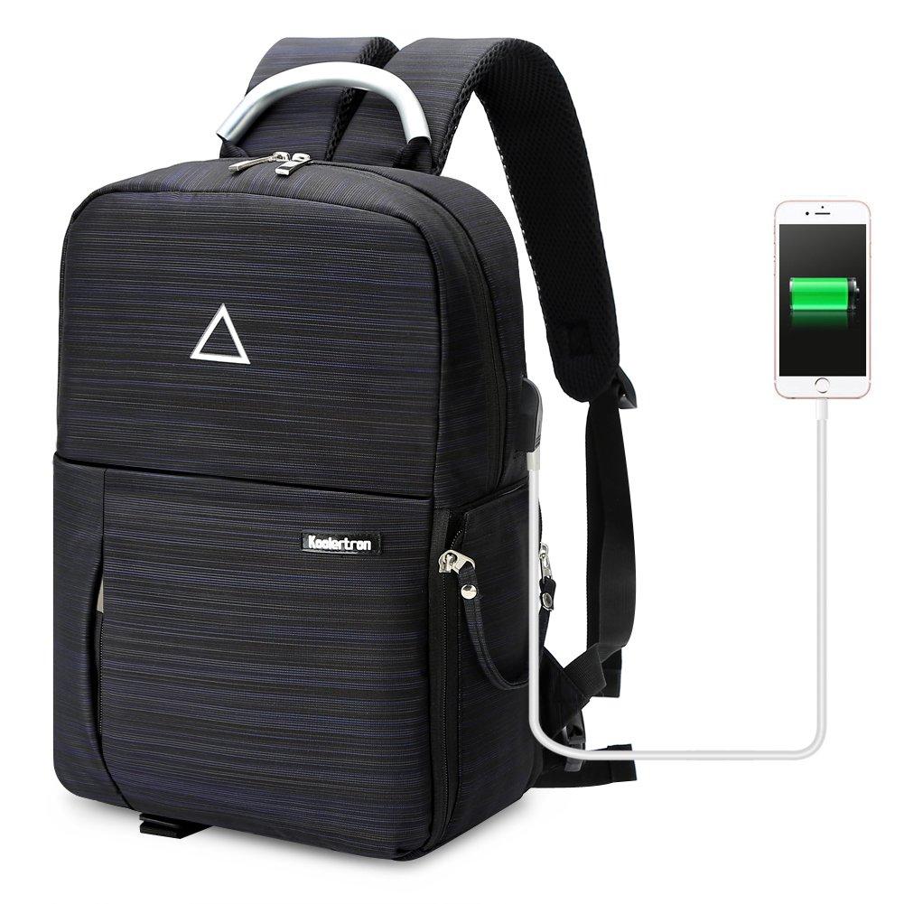 Koolertron HH03162 SLR DSLR Camera Backpack USB Charge Multi-function Waterproof Photography Bag Unisex Outdoor Travel Bag for Nikon Canon Camera