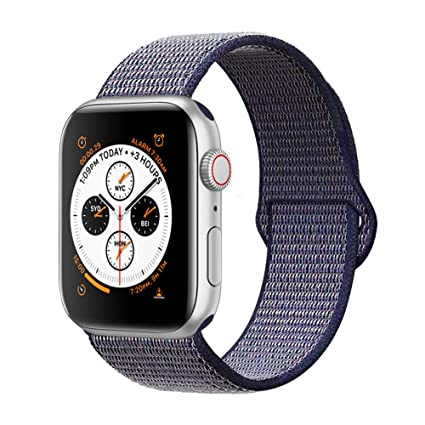 5aed490e4eb3 AdMaster Compatible for Apple Watch Band 42mm 44mm, Soft Nylon Sport Loop  Replacement Wristband Compatible