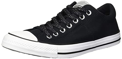9595b4b2d4 Converse Chuck Taylor All Star Madison - Zapatillas Deportivas para Mujer,  Negro/Plateado/