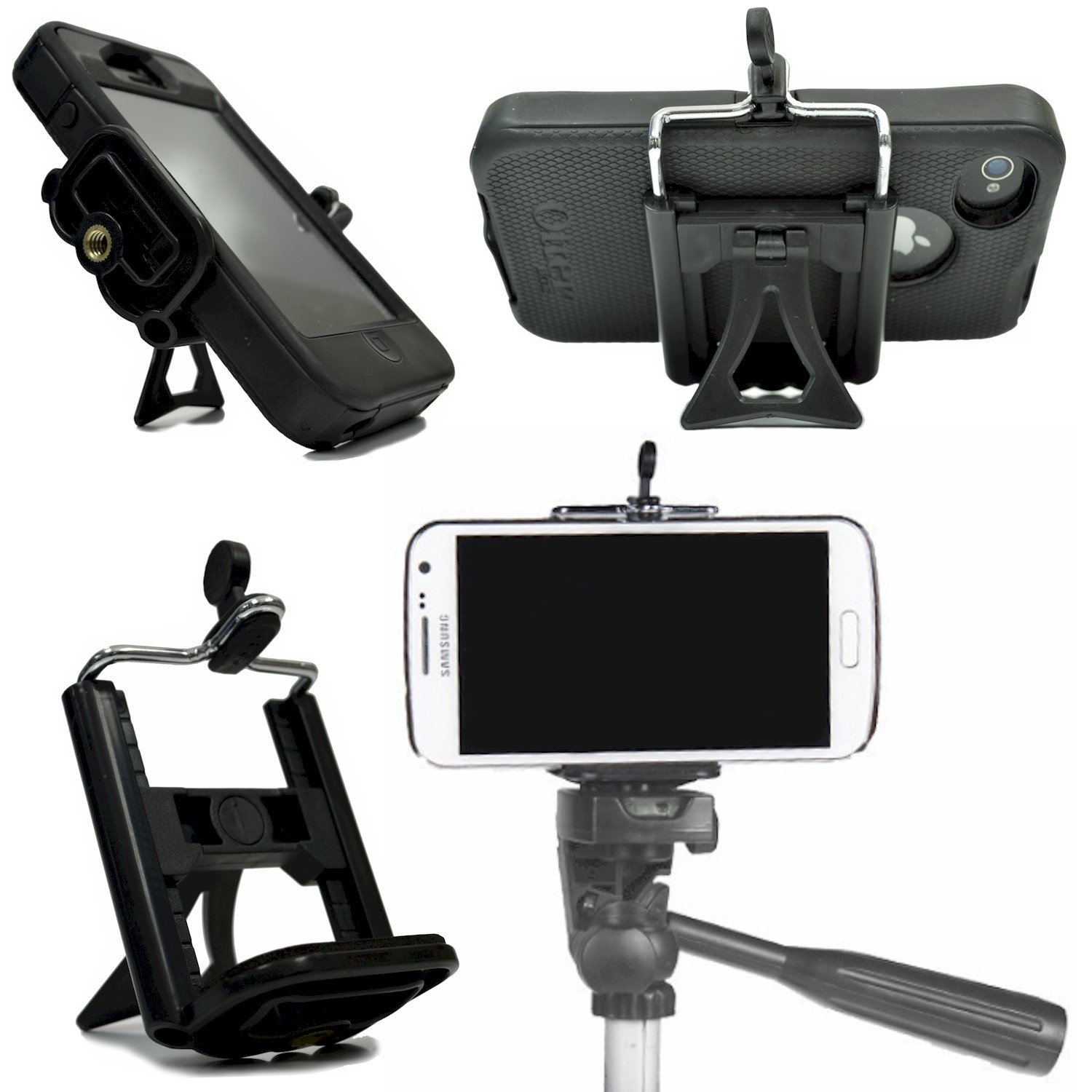 iphone tripod mount cell phone adapter stand