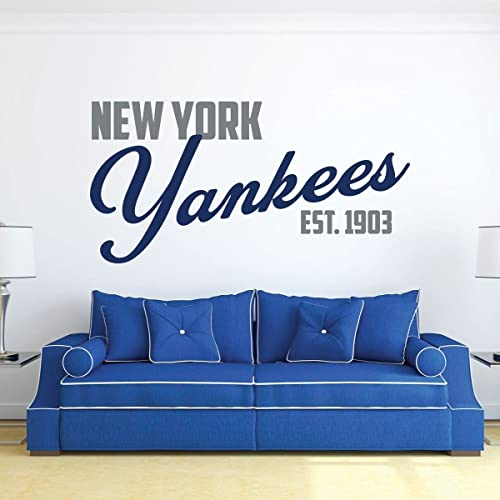 Amazon Com New York Yankees Baseball Vinyl Wall Decal Sports Team