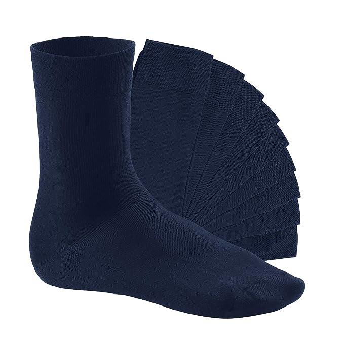10 pares de calcetines - mujeres | hombres - calcetines negro baya blanco amarillo calcetines deportivos: Amazon.es: Ropa y accesorios