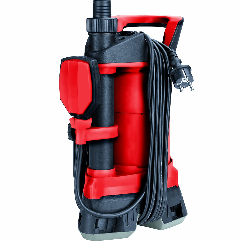 Einhell Schmutzwasserpumpe GE-DP 3925 ECO Power (390 Watt, max. 10.000 l/h, max. 6 m Förderhöhe, Fremdkörper bis 25 mm, stufenloser Schwimmerschalter) Fremdkörper bis 25 mm