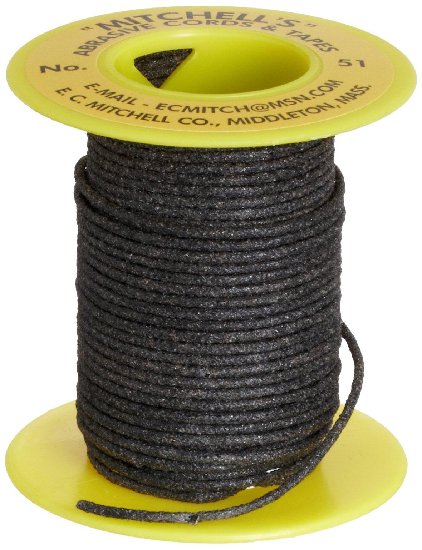 Mitchell Abrasives 51 Round Abrasive Cord, Aluminum Oxide 120 Grit .055'' Diameter x 25 Feet by Mitchell Abrasives