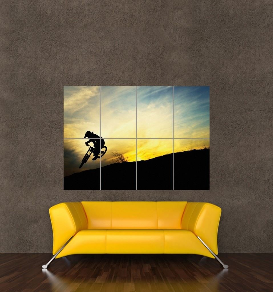 Amazon.com: BMX MOUNTAIN BIKE SUNSET JUMP GIANT PICTURE POSTER ART ...
