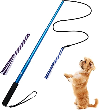 Refill Pack for Dog Teaser Wand Jalousie Dog Flirt Pole Compatible Toys Three Squeaky Toys Plush Toys