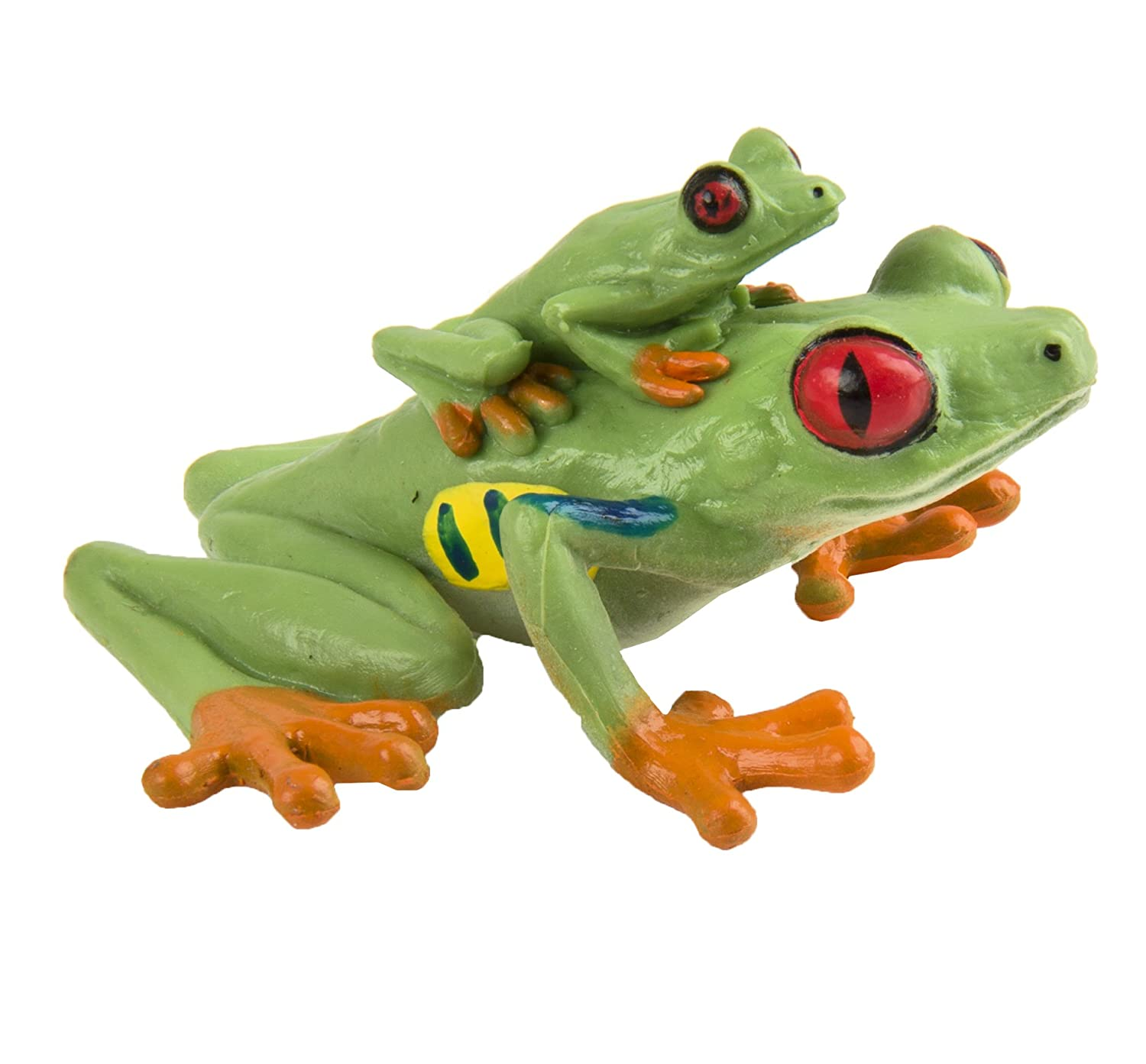 amazon com safari ltd red eyed tree frog u2013 realistic hand