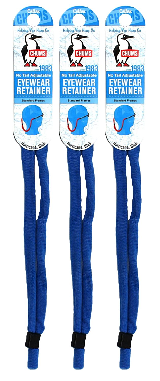 Chums No Tail Adjustable Eyewear Retainer 3 Pack Royal