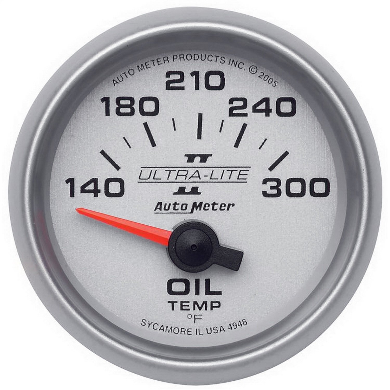 Auto Meter 4948 Ultra-Lite II Electric Oil Temperature Gauge by Auto Meter