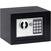 Jssmst Small Safe Box, 0.17CF Mini Safe Kids Safe Box for Home Office, Personal Safe Lock Box with Electronic Keypad…