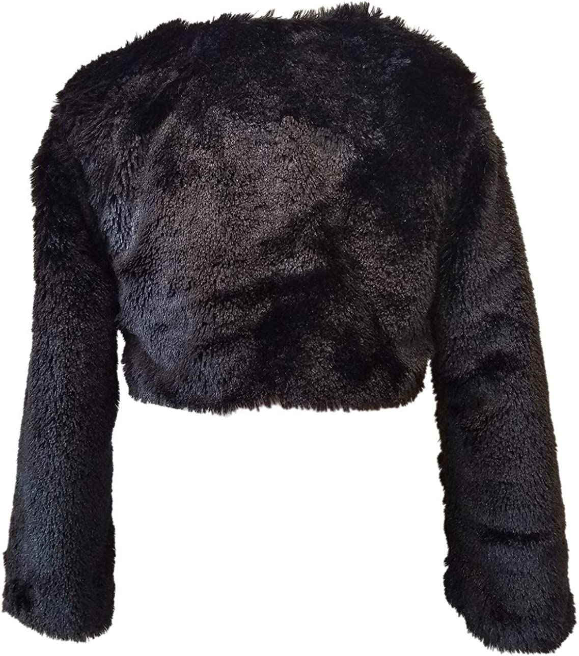 BNY Corner Little Girl Faux Fur Dress Coat Flower Girl Bolero Jacket Winter 6-16