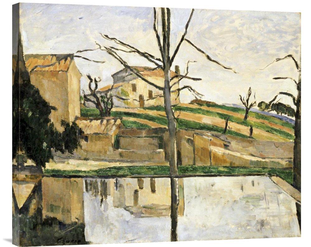 Global Galerie Budget gcs-264703–76,2–360,7 cm Paul Cezanne Le Bassin Du Jas De Bouffan Galerie Wrap Giclée-Kunstdruck auf Leinwand Art Wand