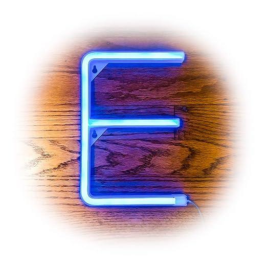 ZOLED Letrero LED neón Azul, Letras iluminadas, Letras de ...