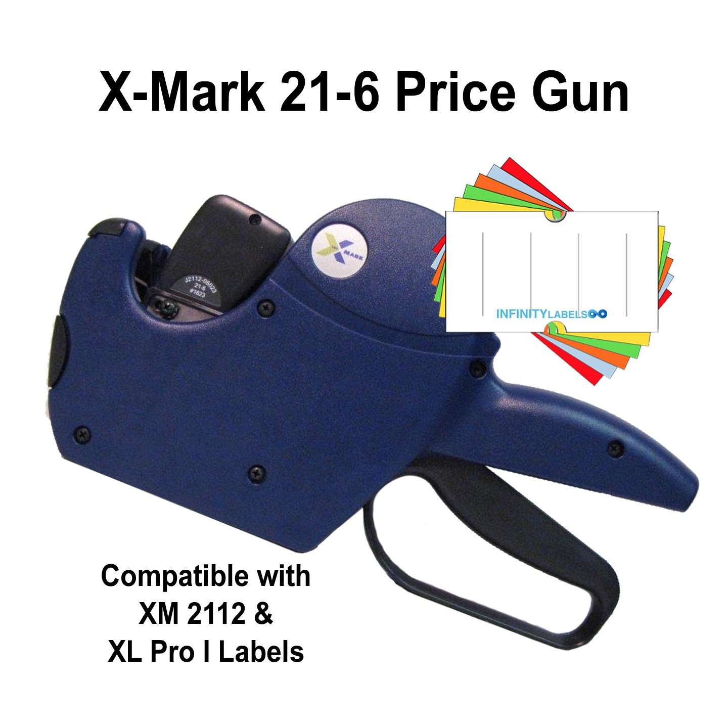 X-Mark Price Guns (10): TXM 21-6 Bulk PRICING [1 Line / 6 Characters] by Infinity Labels