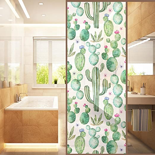 Flores Decorativas Static Cling Frosted Privacy Window Film Sticker - # 7: Amazon.es: Hogar