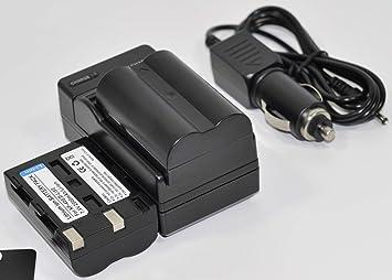 Amazon.com: 2 baterías D-Li50 + cargador de CA / DC para ...