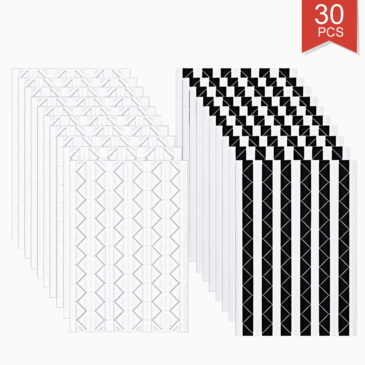 Faxco 30 Sheets White and Black Photo Corner Stickers,Self Adhesive Corners for Scrapbook Picture Album,Photo Decoration Parts 3060 Pieces
