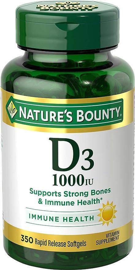 Nature's Bounty - Vitamin D3 1000 IU - Softgels