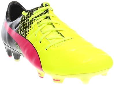 aa50e062677 PUMA Mens Evopower 1.3 Tricks Fg Firm Ground Soccer Cleats (7) Pink Black