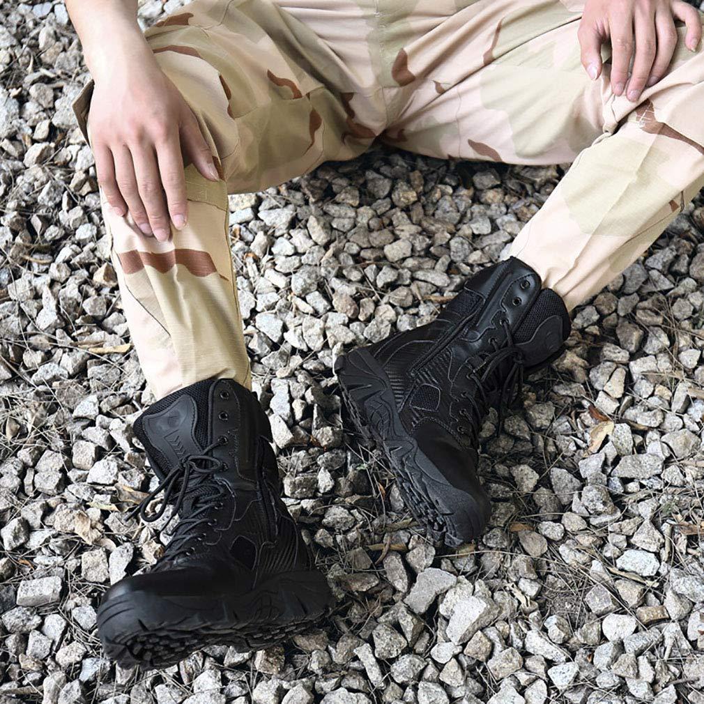 YAN Botas De Hombre De De De Cuero Otoño & Invierno Antideslizante Militar Al Aire Libre Botas De Alta Top Botas Tácticas Resistentes Al Desgaste Zapatos Especiales Beige, Negro,Negro,40 1eb1ff
