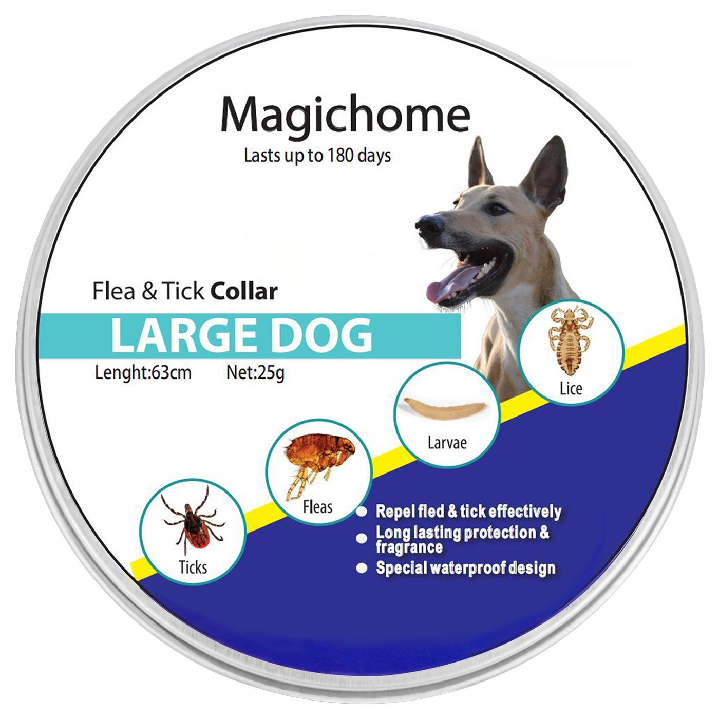 MagicHome Collar Antiparasitario para Perros contra Pulgas ...