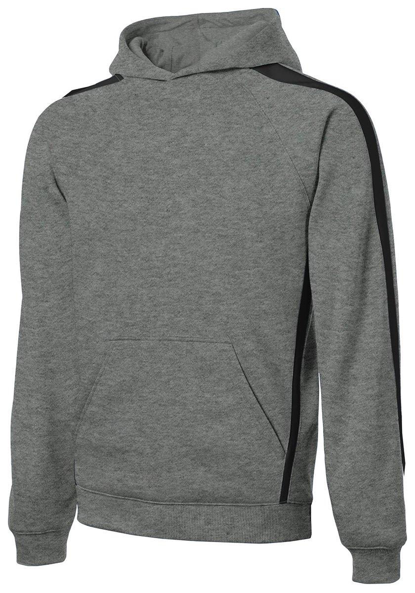 Sport-Tek Mens Sleeve Stripe Pullover Hooded Sweatshirt (ST265) -Vintage He -XS by Sport-Tek