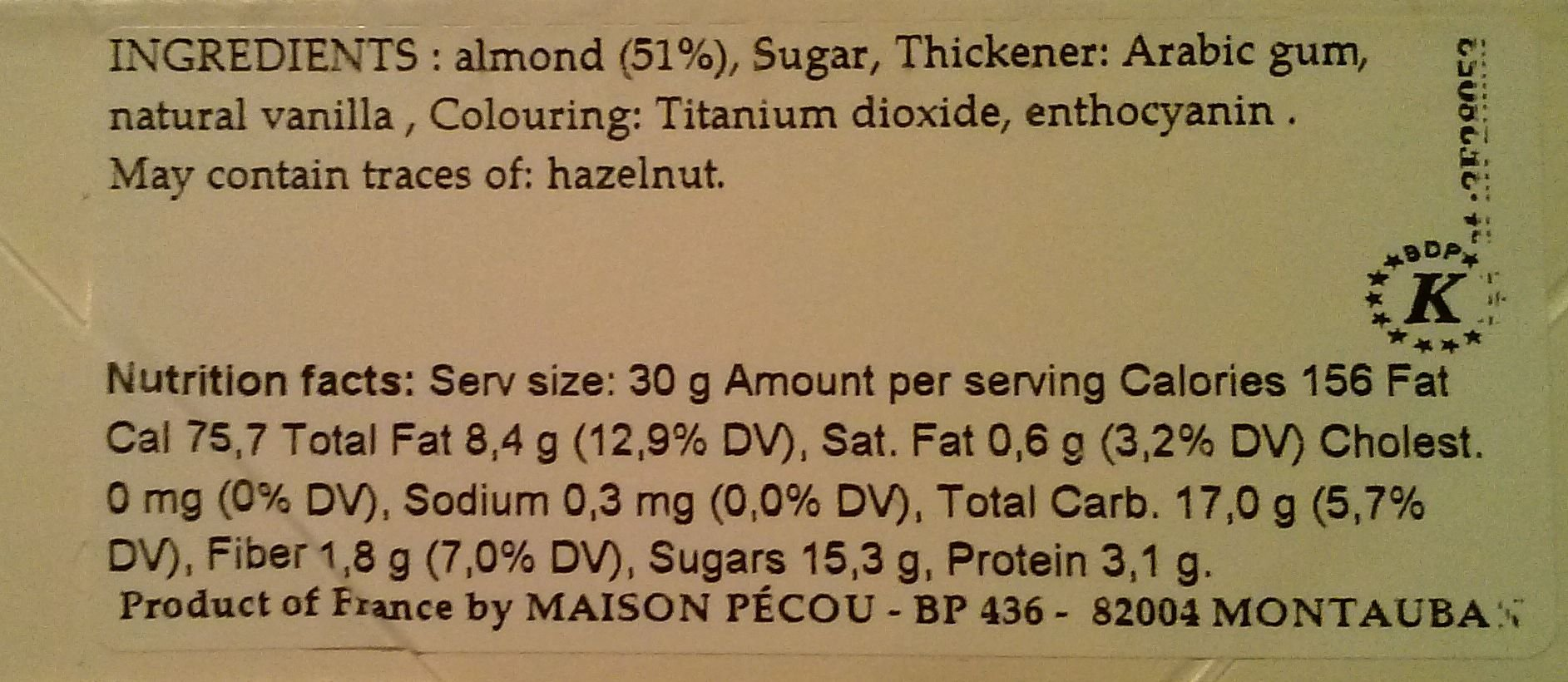 French Avola Almond Dragees (French Jordan Almonds), White color 1kg (2.2lbs) by Dragees Pecou (Image #2)