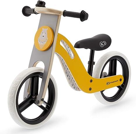 Kinderkraft Bicicleta sin Pedales UNIQ, Ultraligera, de Madera, 2+ ...