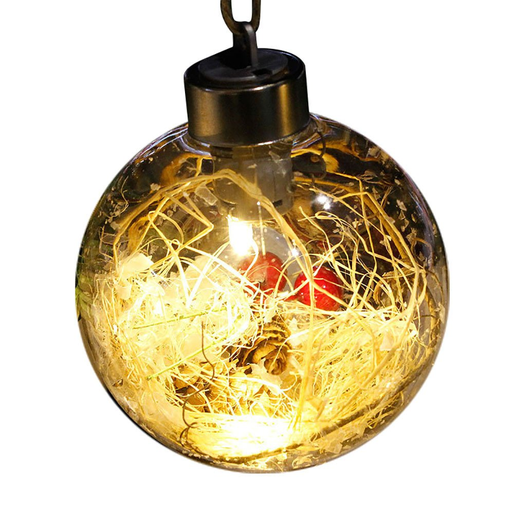 Xmas Decorations Clearance Sale,Libermall LED Merry Christmas Tree Bulb Light Ball Ornament Xmas Garden Festival Decor,Perfect for Indoor Outdoor Party Xmas Hanging Ornaments