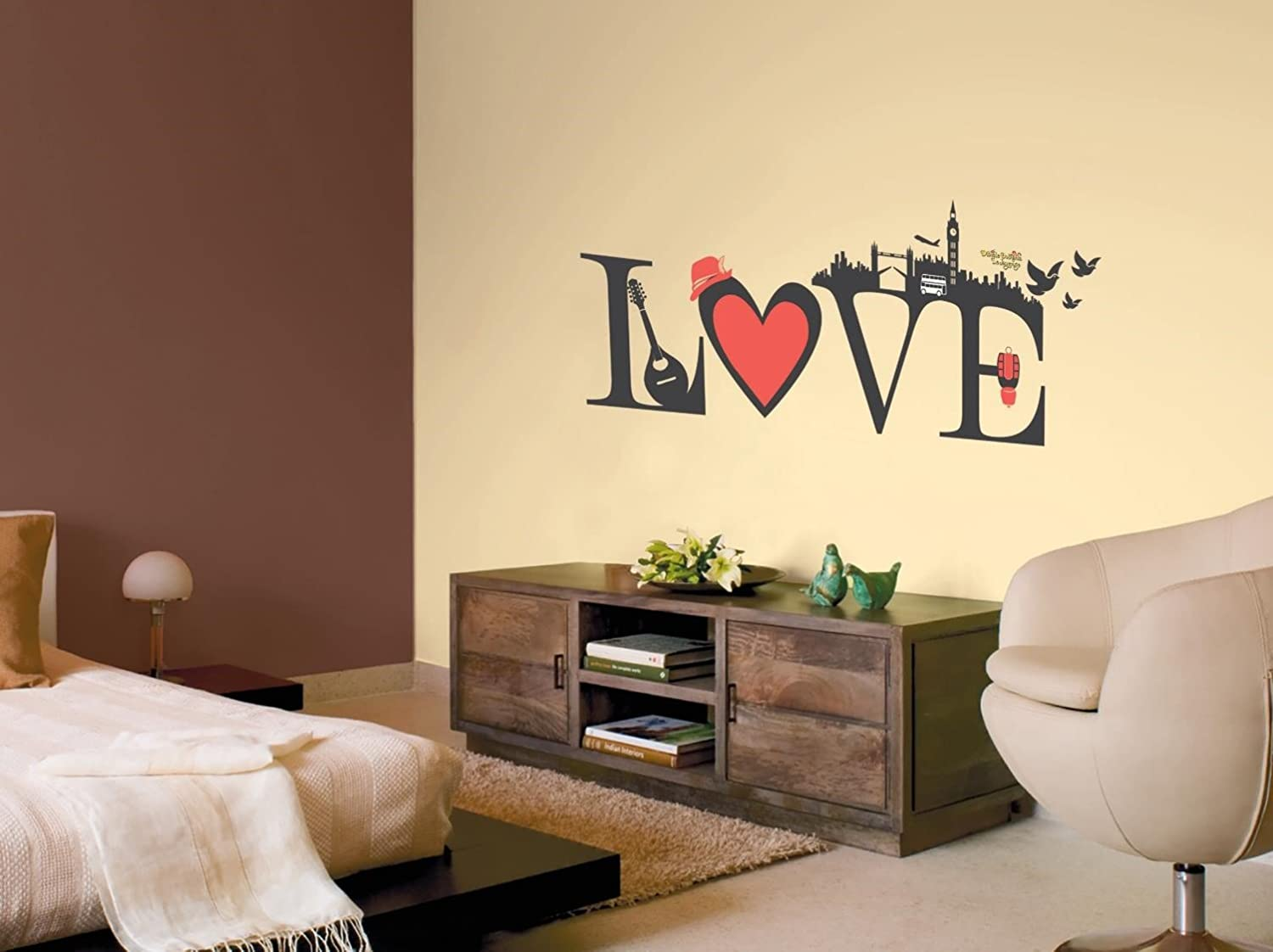Buy Asian Paints Nilaya Love Wall Stickers Online at Low Prices in ...