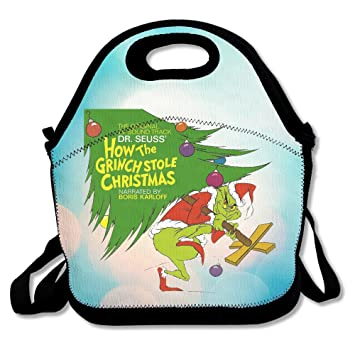 23ee602165f7 BigBang Dr Seuss How The Grinch Stole Christmas Lunch Tote Bag Lunch ...
