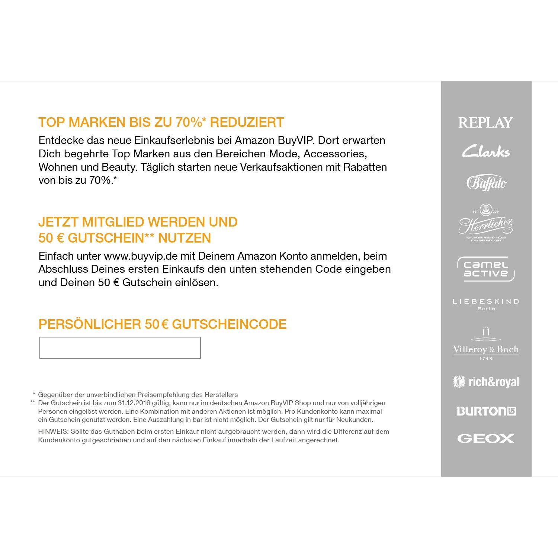 Amazon BuyVIP - 50 Euro Gutschein: Amazon.de: Elektronik