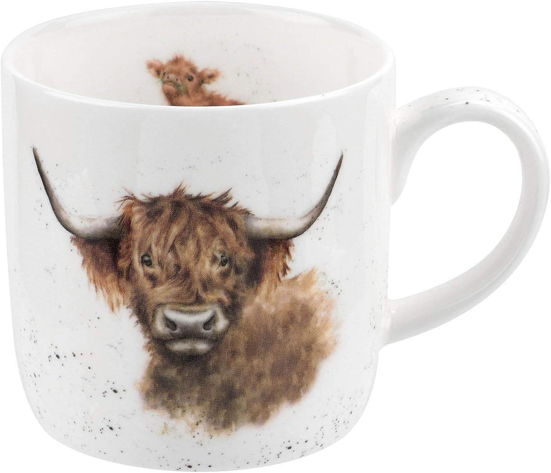 Wrendale Highland Coo Vaca Taza, Multicolor: Amazon.es: Hogar